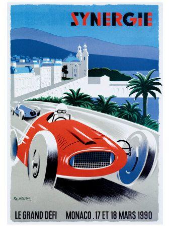 Monaco Gran Prix Poster - 1990