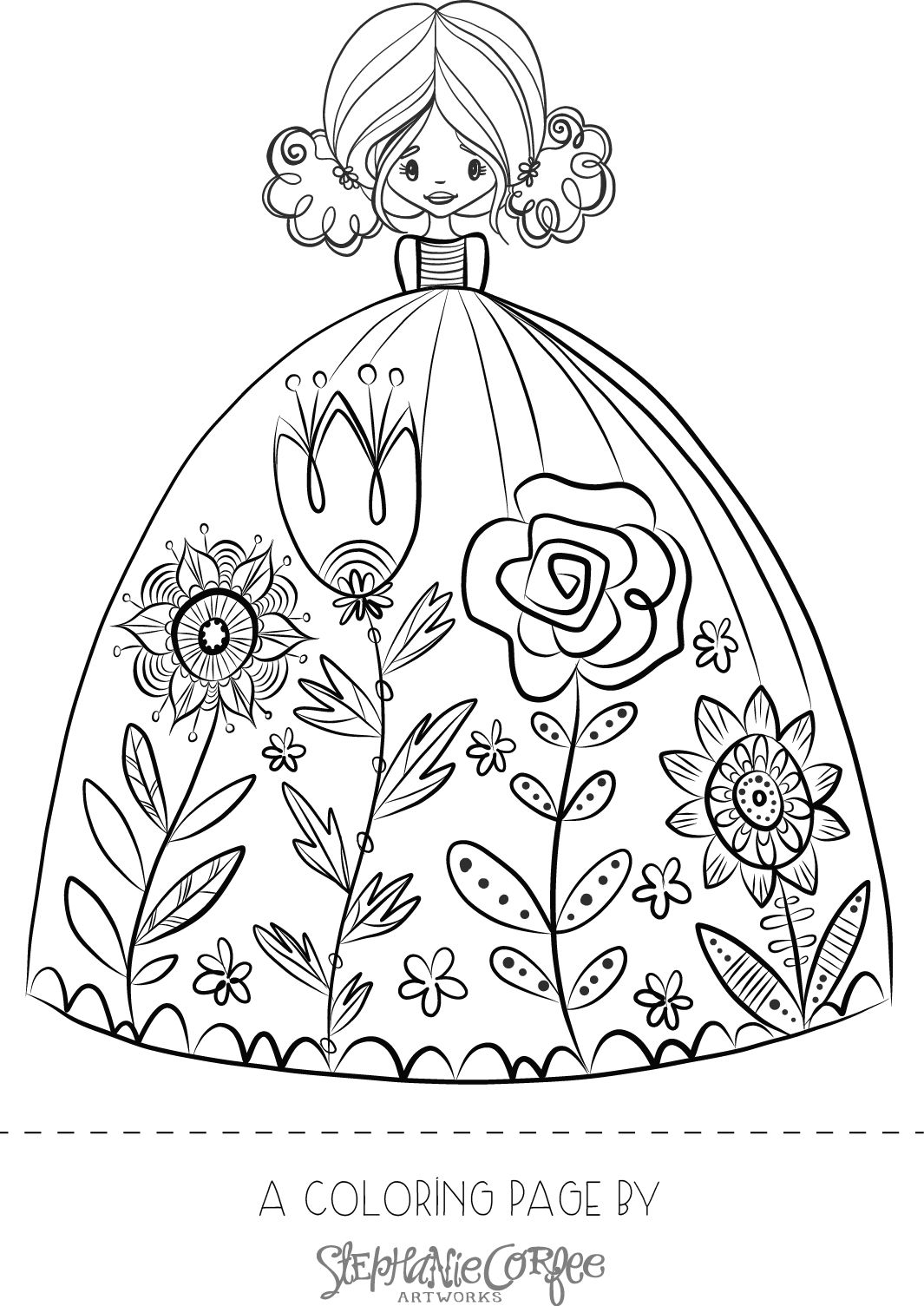 EasterGirlColoringPage --> If you\'re in the market for the most ...