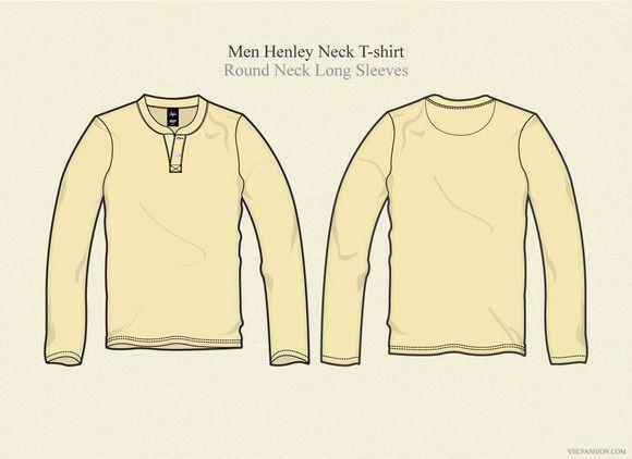 Download Men Henley Neck T Shirt Long Sleeves Mens Henley Long Sleeve Shirts Shirt Sketch