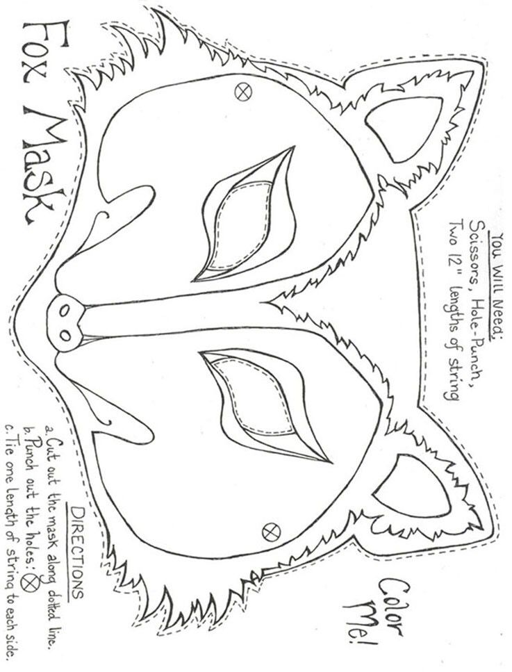 Fox Felt Mask Pattern Fox Mask Mask For Kids Felt Animal Masks