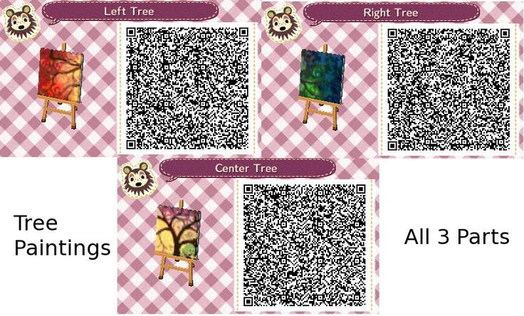 cute animal crossing qr codes flags