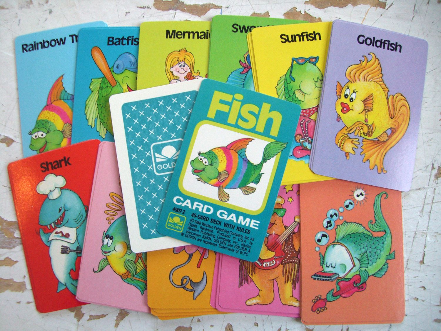 Vintage 1988 Golden Go Fish Playing Cards Always Wanted To Win
