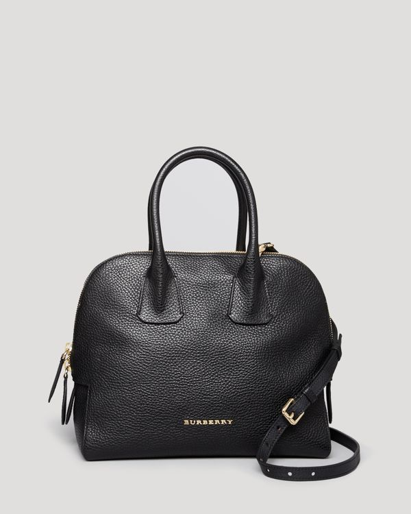 928f6030c3 Burberry Satchel - London Grainy Leather Small Greenwood Bowling ...