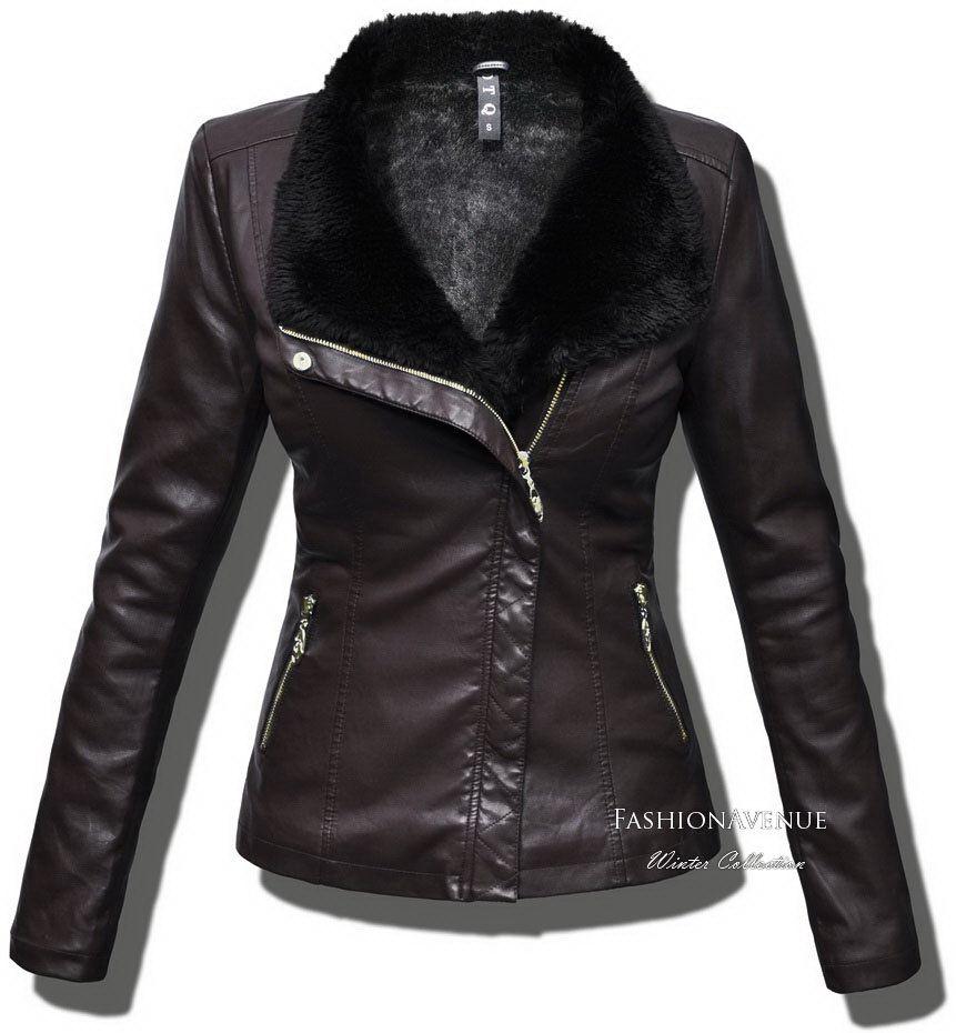 Ekskluzywna Mieciutka Kurtka Damska Ramoneska Ze Skory Podszyta Futerkiem Model 79 W Sklepie Fashionavenue Pl Fashion Jackets Leather