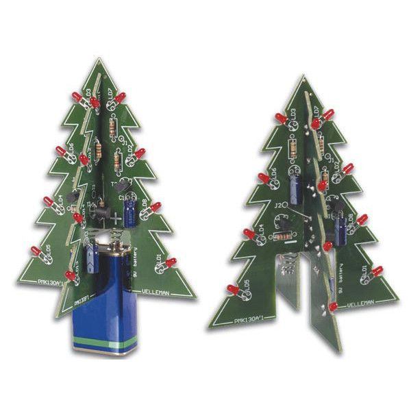With Some Simple Soldering Steps Transform Pcbs And Leds Into A Glowing Dimensional Electronic Tree Just Add A 9v Battery Tree Christmas Tree Kit Xmas Tree 3d Christmas Tree