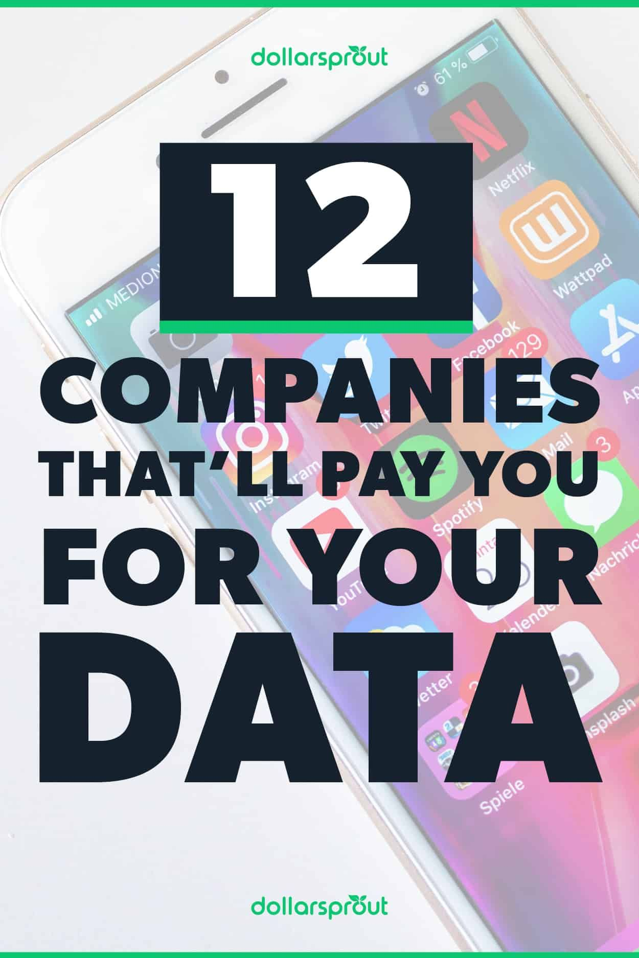 12 Apps That Pay You to Collect Your Data DollarSprout