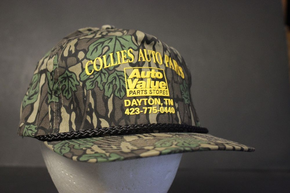 13f033aabaa Auto Value Parts Store Camo Trucker Hat Cap Automotive Snapback Hipster  Collies  Cobra  Trucker
