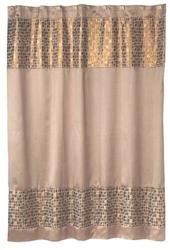 Mosaic Stone Bronze 6x6 Shower Curtain Gold Products Fabric