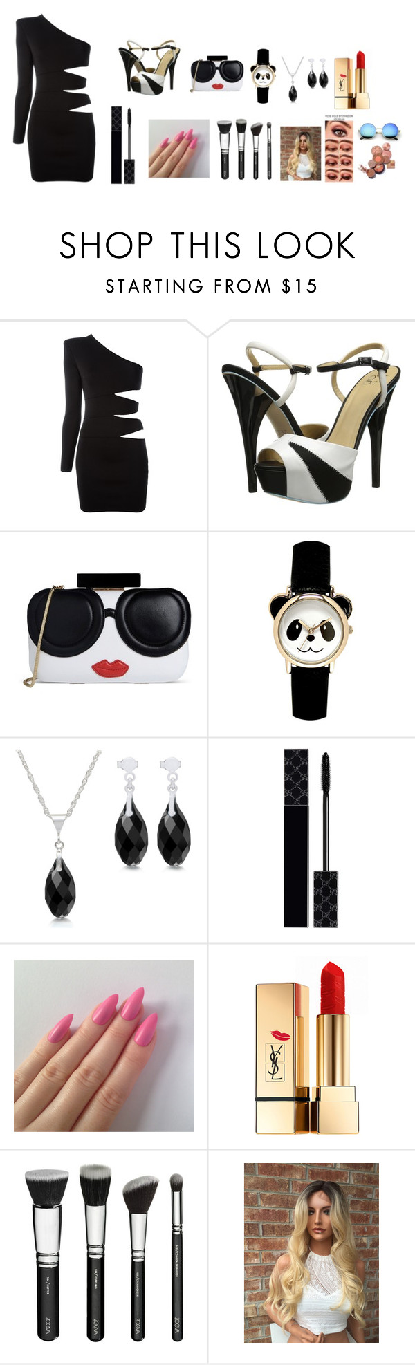 """sinpl dree"" by taylorswift-31 ❤ liked on Polyvore featuring Balmain, gx by Gwen Stefani, Alice + Olivia, Gucci and Yves Saint Laurent"