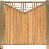 Bambuszaun Shanghai Sichtschutz Bambus Mit Stabe Von 12mm Und Rahmen