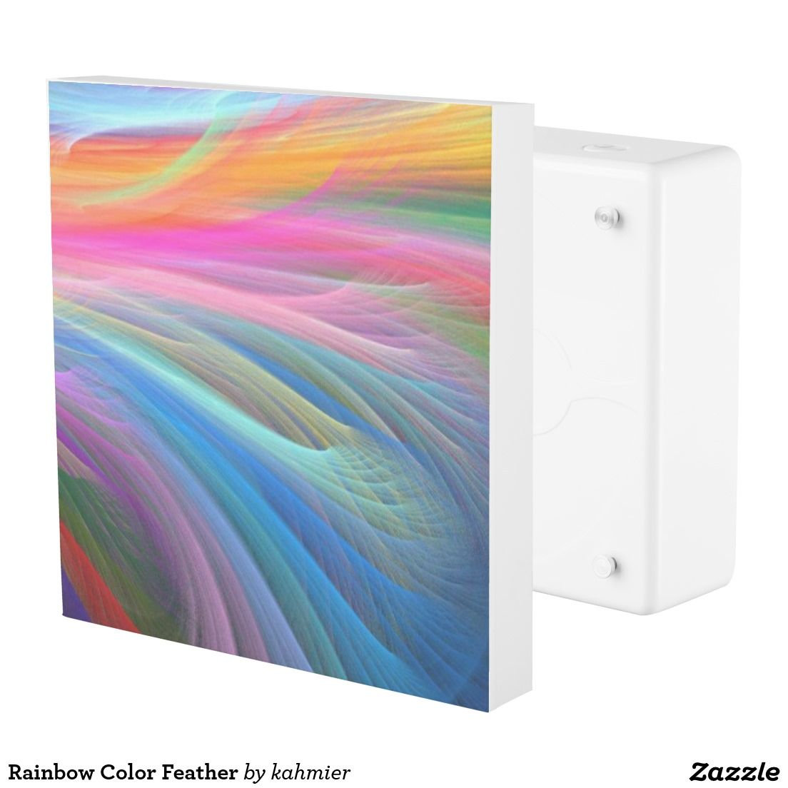 Rainbow Color Feather Outlet Cover
