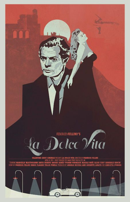 alternative movie poster for la dolce vita by fernando. Black Bedroom Furniture Sets. Home Design Ideas