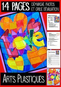 Voici un projet pour le 4e année et plus (et le secondaire), pour la St-Valentin. Le matériel est très simple: tout ce que vous avez de crayons. (Bois, feutre, cire). Nous travaillerons les teintes, les motifs et la superposition. Un petit casse-tête, qu'ils aiment résoudre. Amusant et enrichissant. Démarche complète, photos explicatives et grille de correction. 14 pages. À vos crayons !