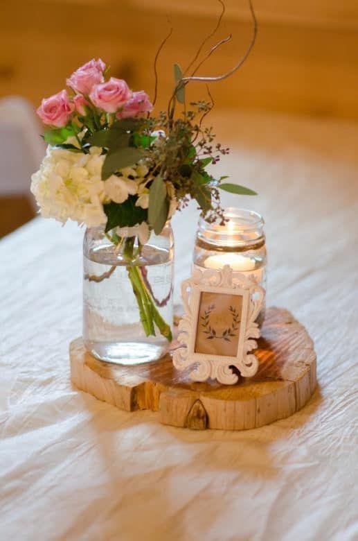 Turquoise Pink Barn Wedding Wedding Centerpieces Mason Jars