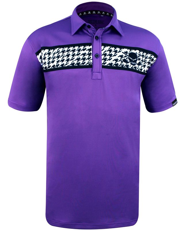 55d9d4e6 I'd love to get a shirt like this for golfing. I love the deep purple color  it comes in. The stripe across the chest makes it stand out too.