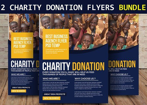 2 charity donation flyers bundle charity flyer pinterest flyer