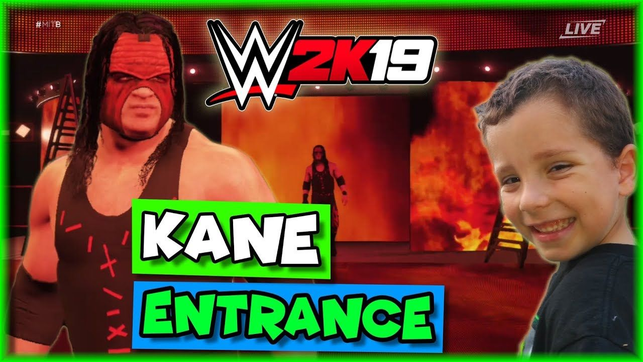 WWE 2K19 Kane Entrance - The Big Red Machine - WWE 2K19