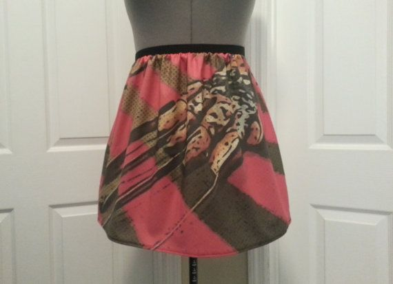 A Nightmare on Elm Street inspired skirt- Freddy Krueger - READY TO