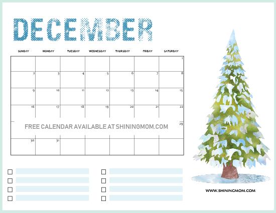 Christmas Themed 2019 December Printable Calendar FREE Christmas Themed December Printable Calendars! | DIY and
