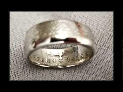 Coin Rings 2 Quarters Pinterest Schmuck