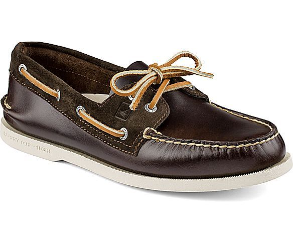 Sperry Top-Sider Authentic Original Cyclone Leather 2-Eye Boat ...
