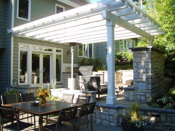 Attached Pergola, Custom Outdoor Kitchen, Grill Cover Pergola And Patio  Cover Environmental Construction, Inc. Kirkland, WA