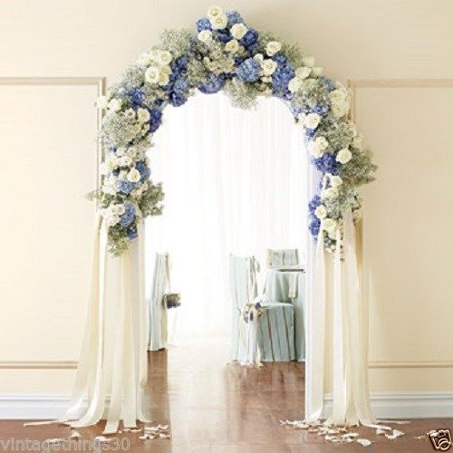 Details about White Metal Arch Wedding Garden Bridal Party