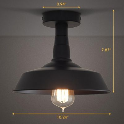 1 light semi flush ceiling fixture in black ceilings lights and house 1 light semi flush ceiling fixture in black aloadofball Choice Image