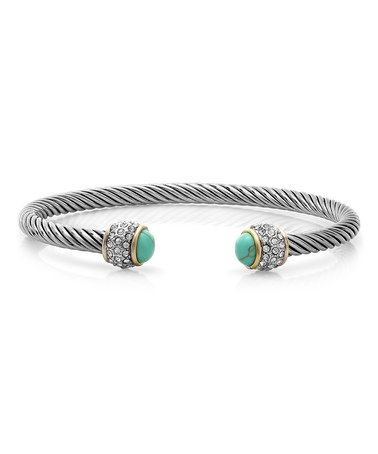 Look what I found on #zulily! Two-Tone & Turquoise Cable Cuff #zulilyfinds
