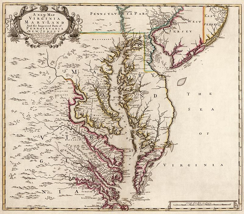 The Beauty Of Old Maps This Is An Antique Map Of Virginia And