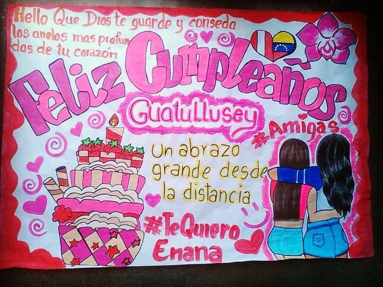 Una Bella Pancarta Para Esa Mejor Amiga Que Este De Cumple Boyfriend Anniversary Gifts Anniversary Gifts Neon Signs
