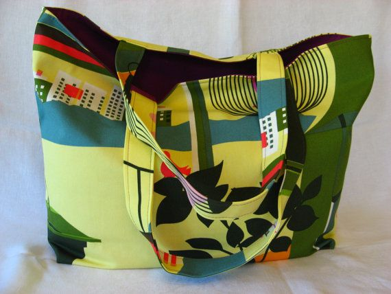 Birds in the City IKEA Large Tote Extra Large Tote by BAGSbyMartha, $55.00
