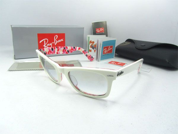 Ray Ban sunglasses RB2140 1022/32 In White mix red colours    Ray Ban RB2140 sunglasses Frame Size: 50-22 mm (Eye-Bridge-Temple)  All Colors:Transparent Black or Purple Mix Red or Black Mix Red  Accessories: Same as original, Coming with RayBan case, box, pouch, warranty card, etc.    Sunglasses Features:  1> Full sun protection  2> Comfortable frame  3> Sleek slightly wraparound lenses