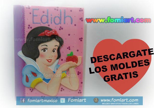 Molde Gratis : Libreta Decorada Blanca Nieves | Fomiart