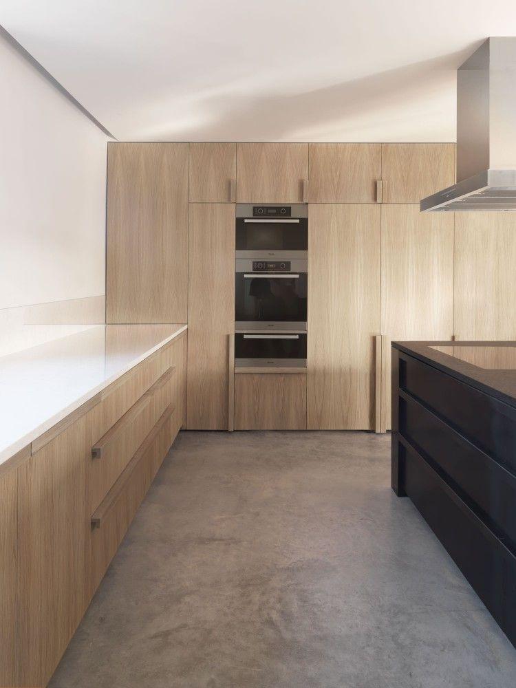 Küche, Schwarz, weiß, holz Loft Pinterest Küche schwarz weiß - interieur in weis und holz modern design