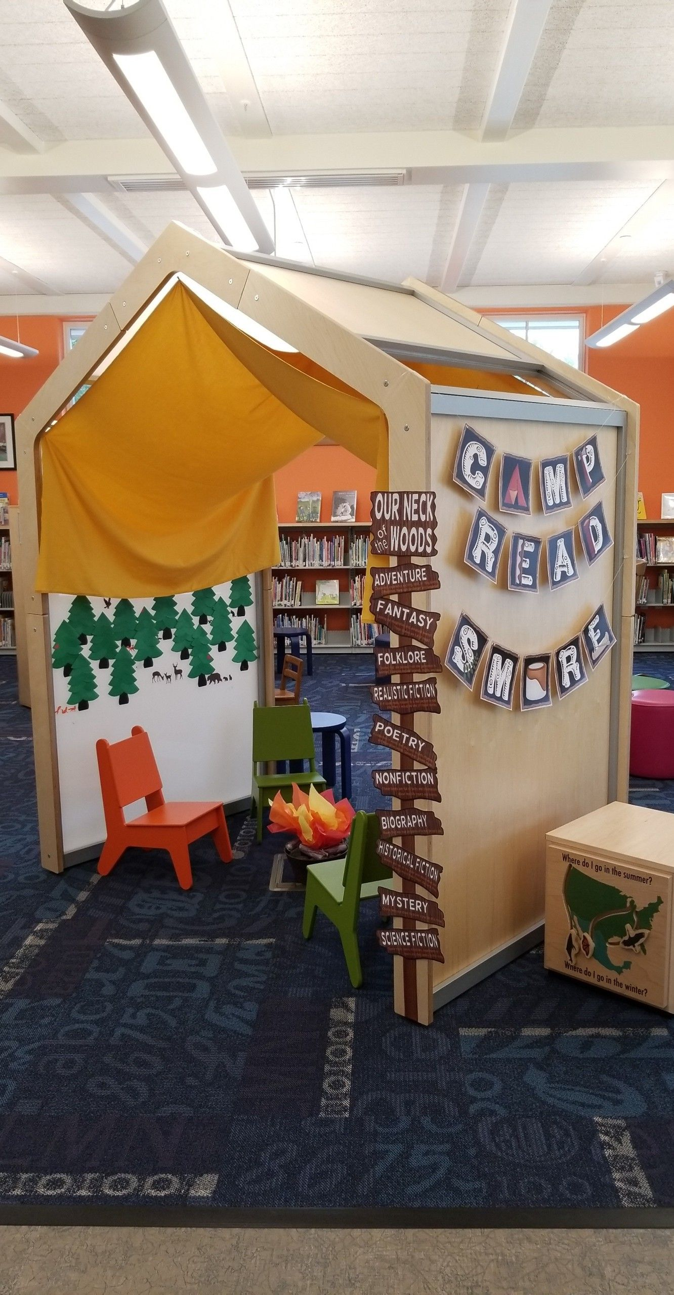 Campfire Library Display Cricut Explore Air 2 Library Displays Worcester County