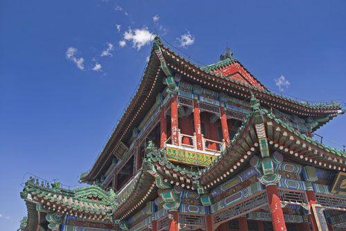 Un templo budista o chino.