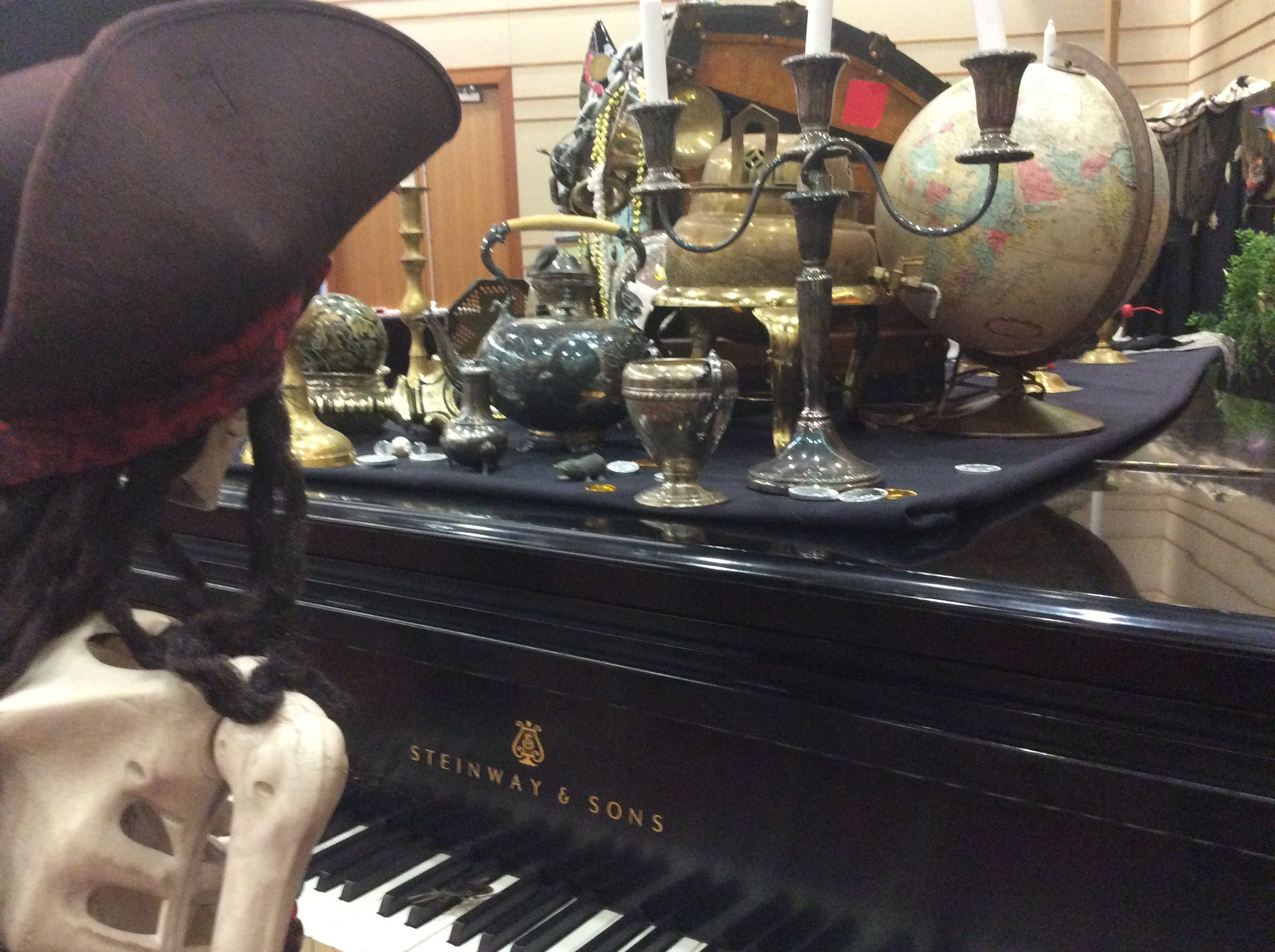 The Pirate's Booty is from the theater departments prop room!
