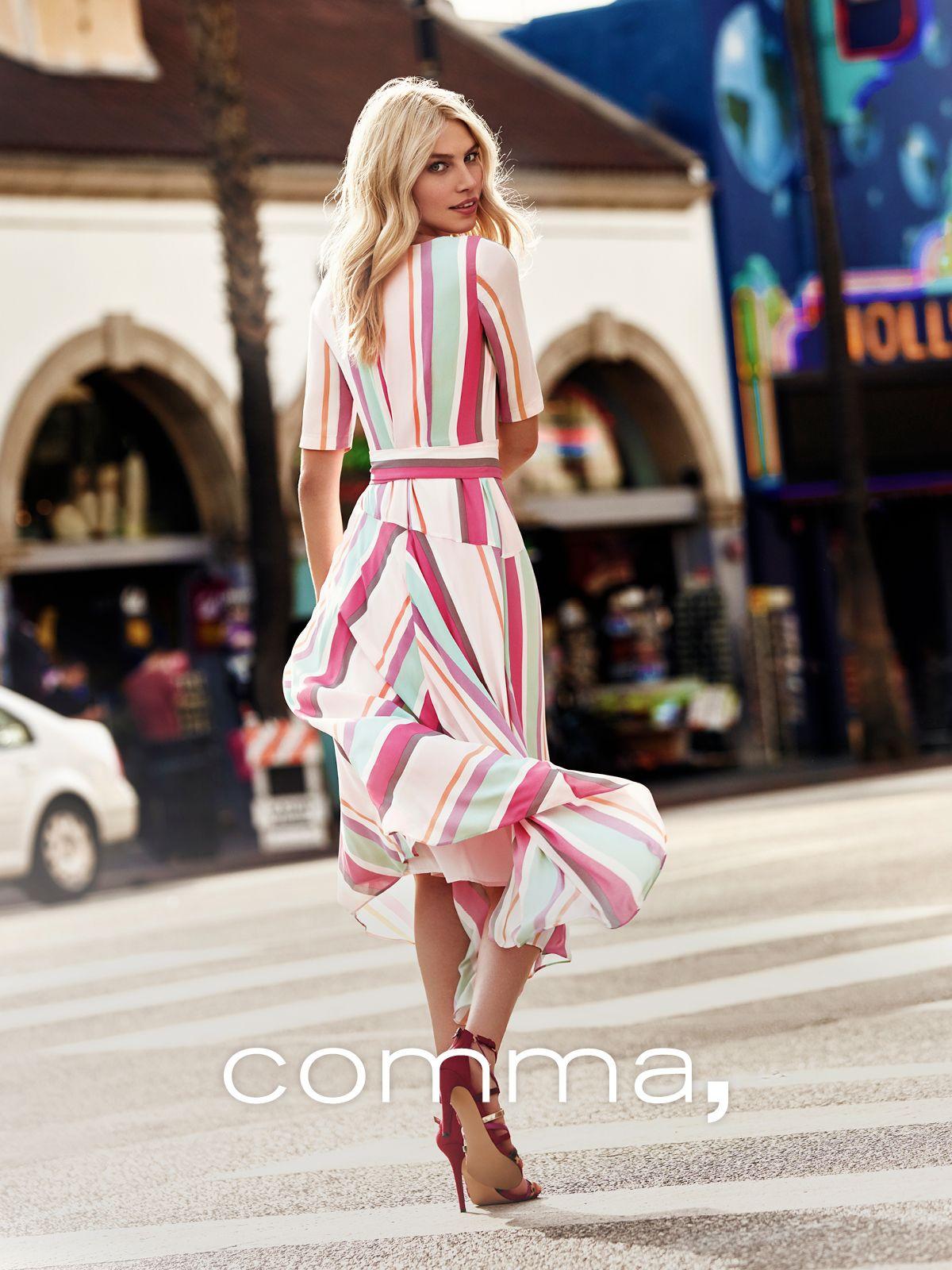 Comma Fashion Spring Summer 2019 Comma In L A Commafashion Modestil Coole Kleider Kleider