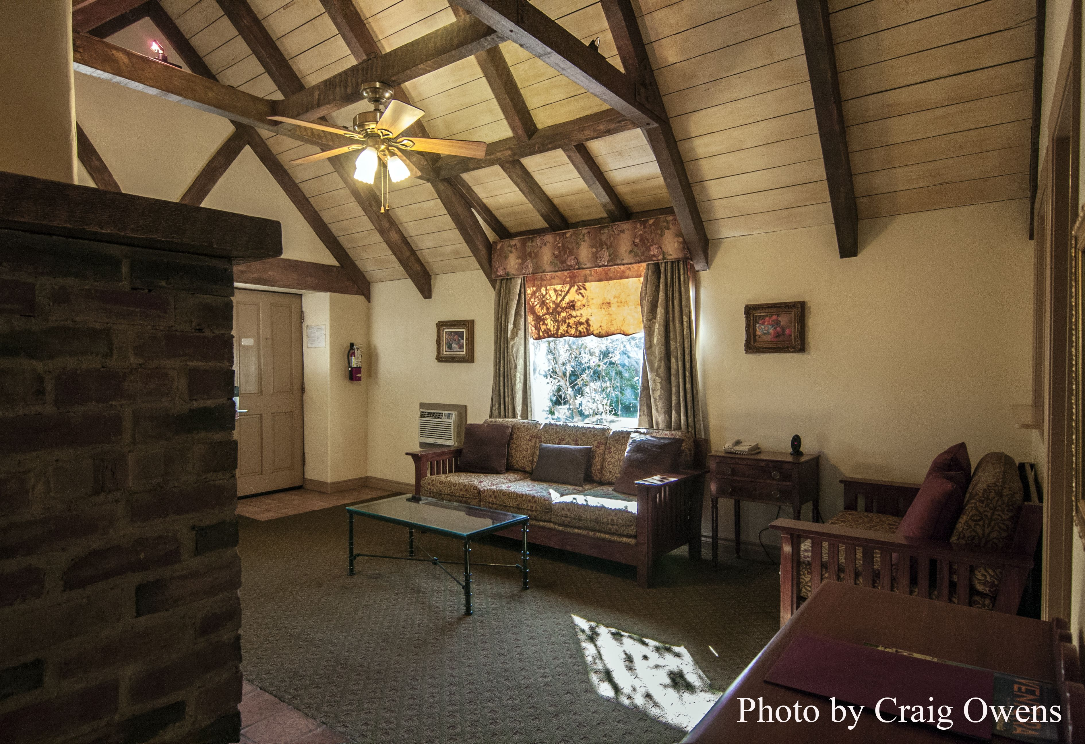 Interior of the Rose Garden Cottage at the Pierpont Inn in Ventura ...