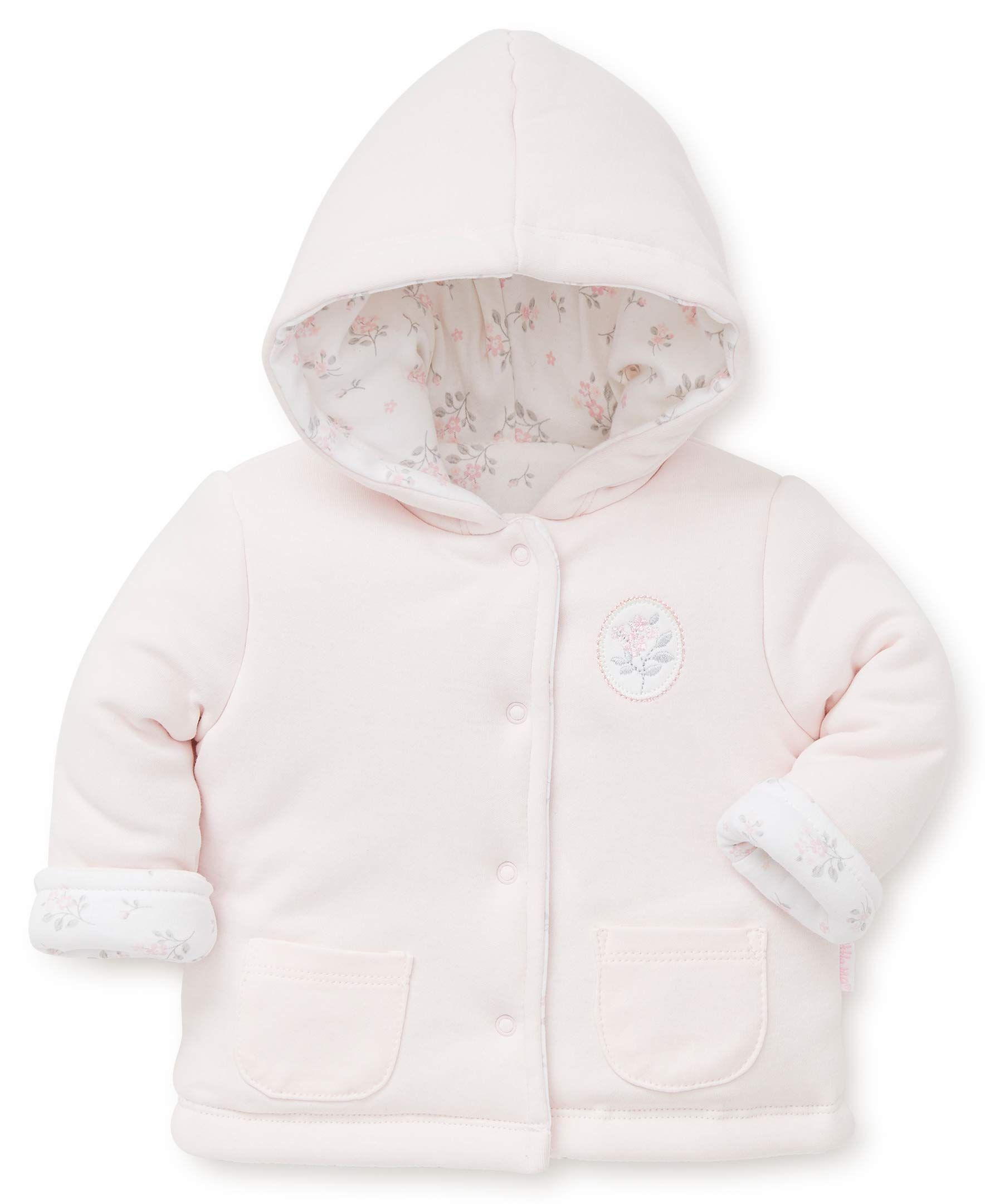 little me baby girls reversible jacket dainty roses 6