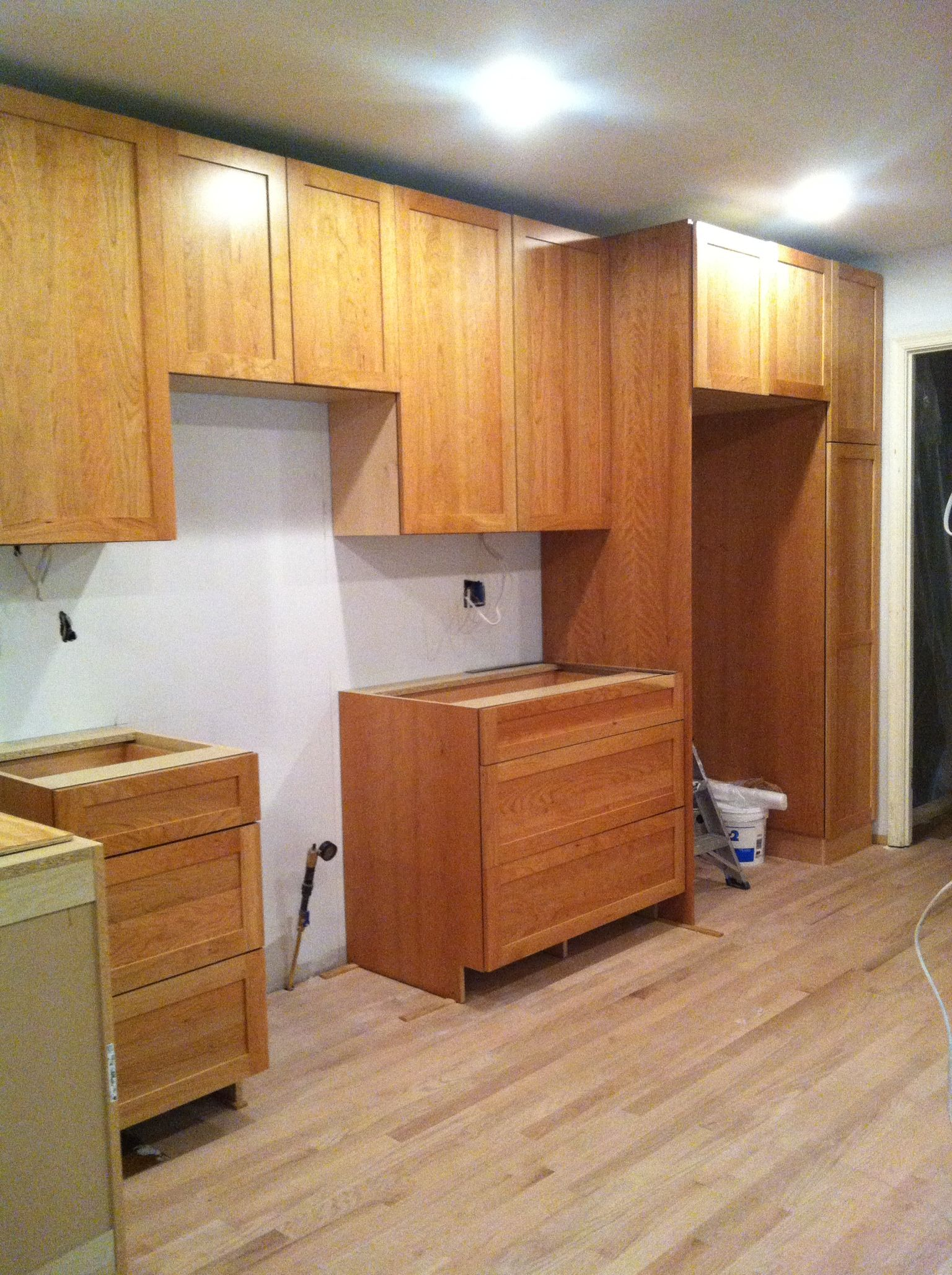 Cherry Shaker Kitchen Cabinets. Shaker Cabinets In Natural Unstained ...