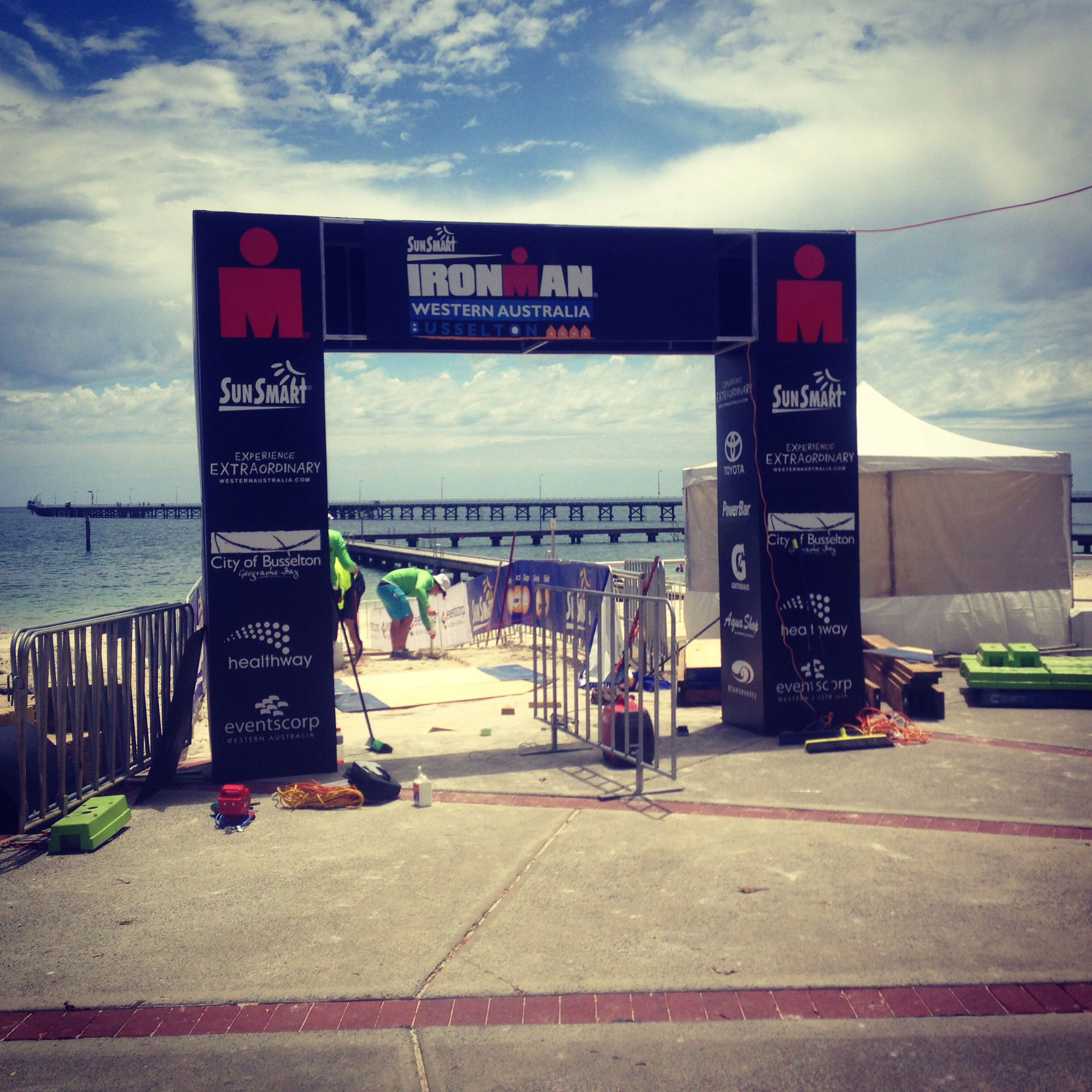 Western Australia. Perth. Busselton. Ironman event. Will nvm forget the joy n pain while doing the race.