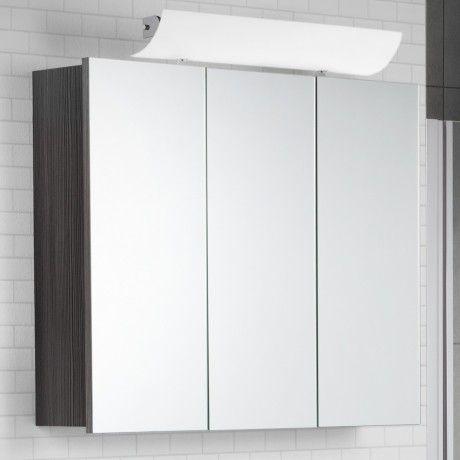 Scanbad Rumba Spiegelschrank 90 x 70cm, mit aufgesteckter LED - spiegelschrank f rs badezimmer