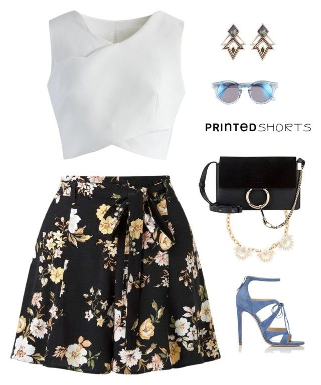 """Smart Outfit"" by anetacerna ❤ liked on Polyvore featuring Miss Selfridge, Chicwish, Lulu Frost, Sunday Somewhere, Chloe Gosselin and printedshorts"