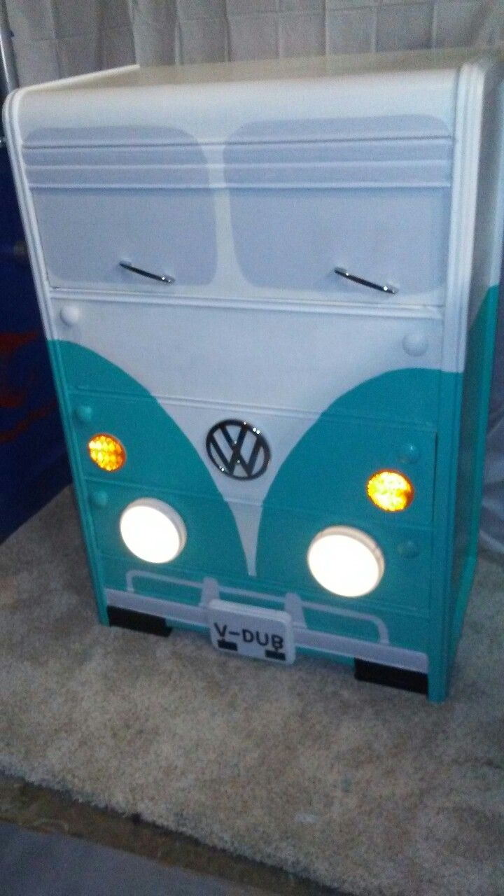 VW Bus waterfall dresser Turquoise and white semi gloss ...