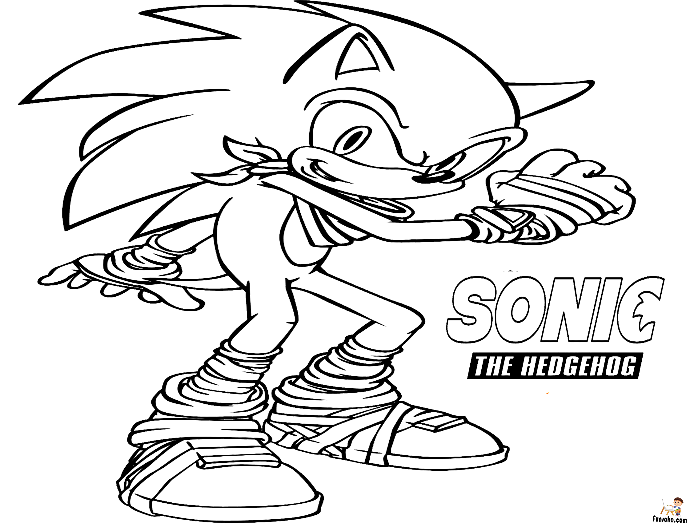 Sonic Coloring Pages Free Printable Coloring Pages Hedgehog Movie Color