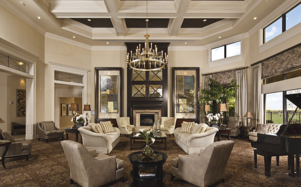 The Lobby At The Clubhouse At Valencia Reserve In Boynton Beach Fl