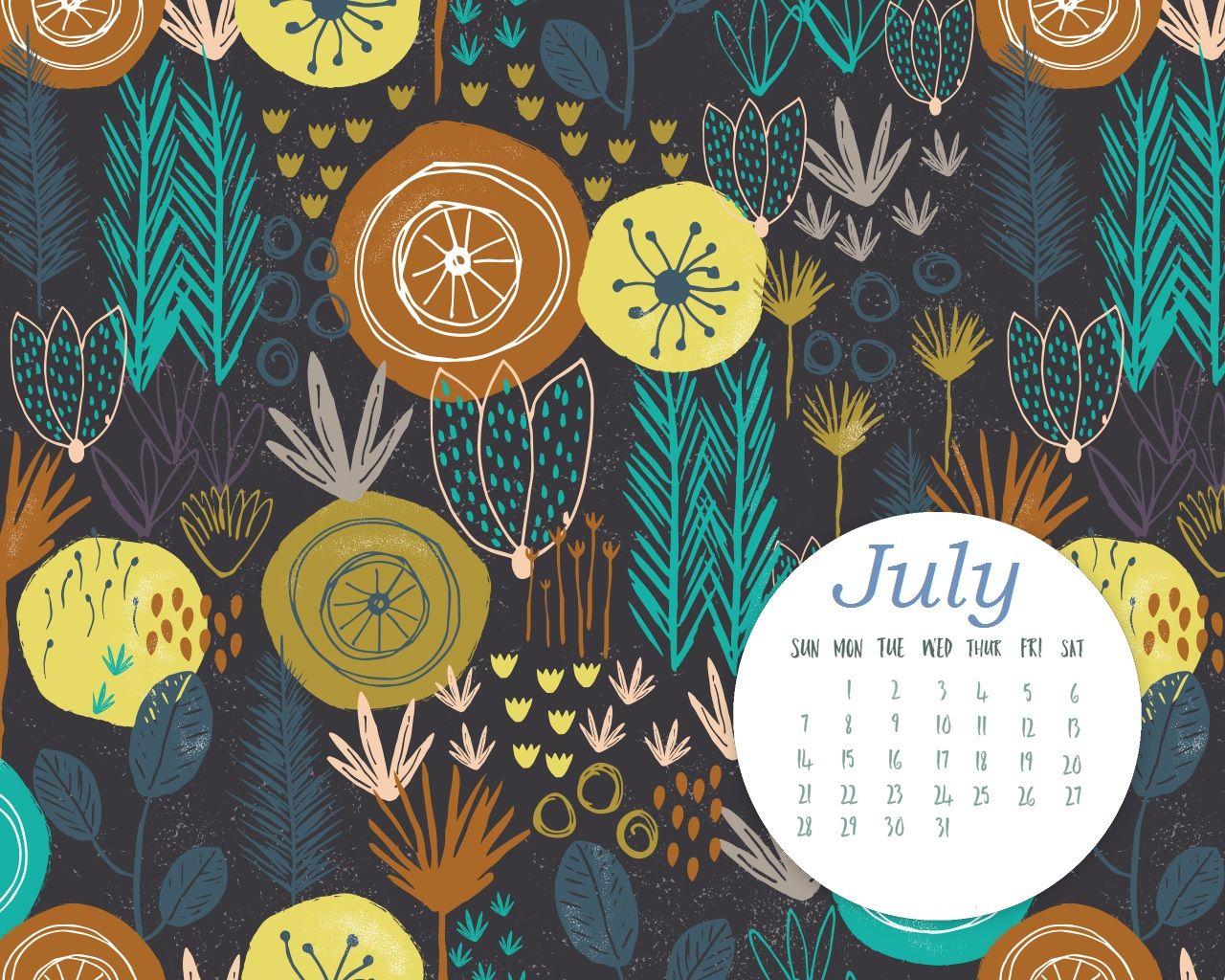 Free July 2019 HD Calendar Wallpaper Calendar wallpaper