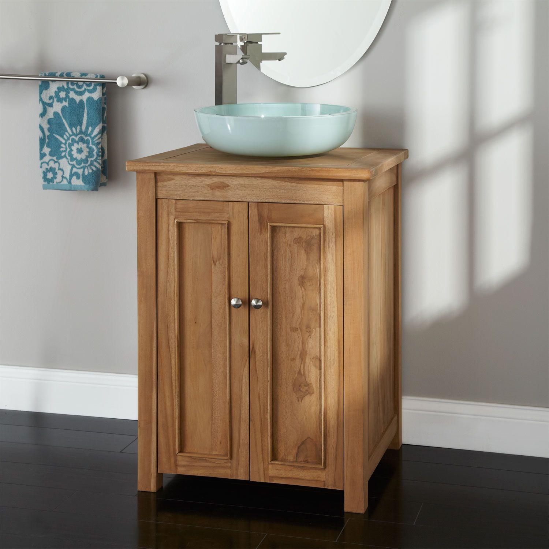 24 Palu Teak Vanity Cabinet For Vessel Sink Vessel Sink Vanity